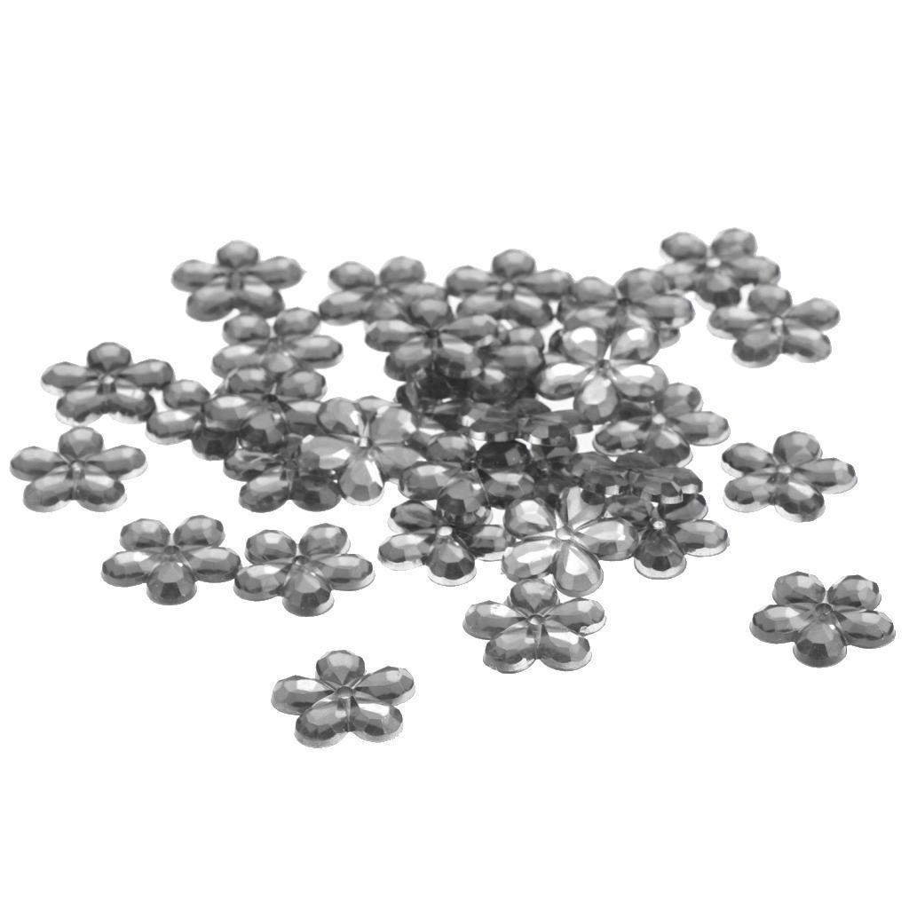 200pcs-Boutons-Elegant-Perle-Fleur-Strass-Accessoires-pour-Bijoux-Colliers miniature 3