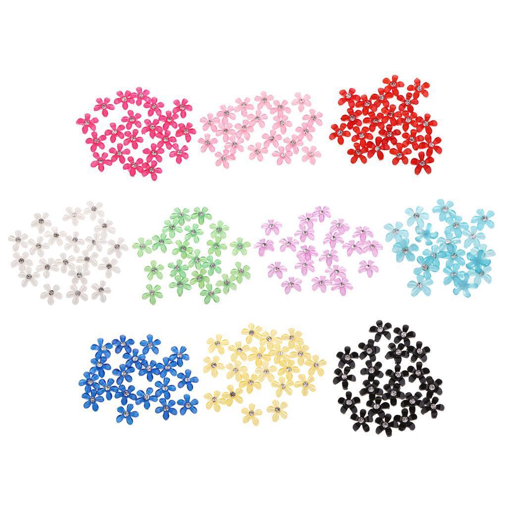 20-pcs-Blumen-Flatback-Perle-Strass-Flatback-Button-Kristall-Verzierung-Handwerk Indexbild 4