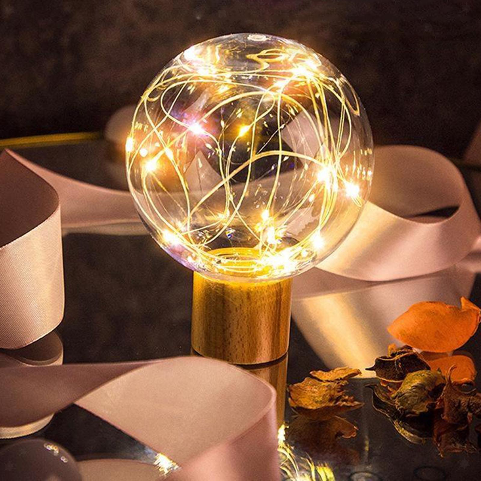 Lampada-da-tavolo-con-luce-notturna-in-cristallo-USB-Ricarica-telecomando miniatura 6