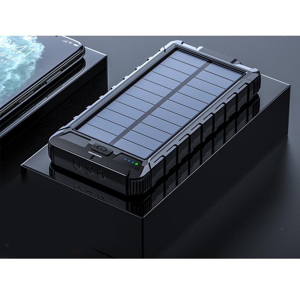 miniatura 9 - 10000mAh Solar Power Bank Cargador de batería de prueba de puerto USB 2
