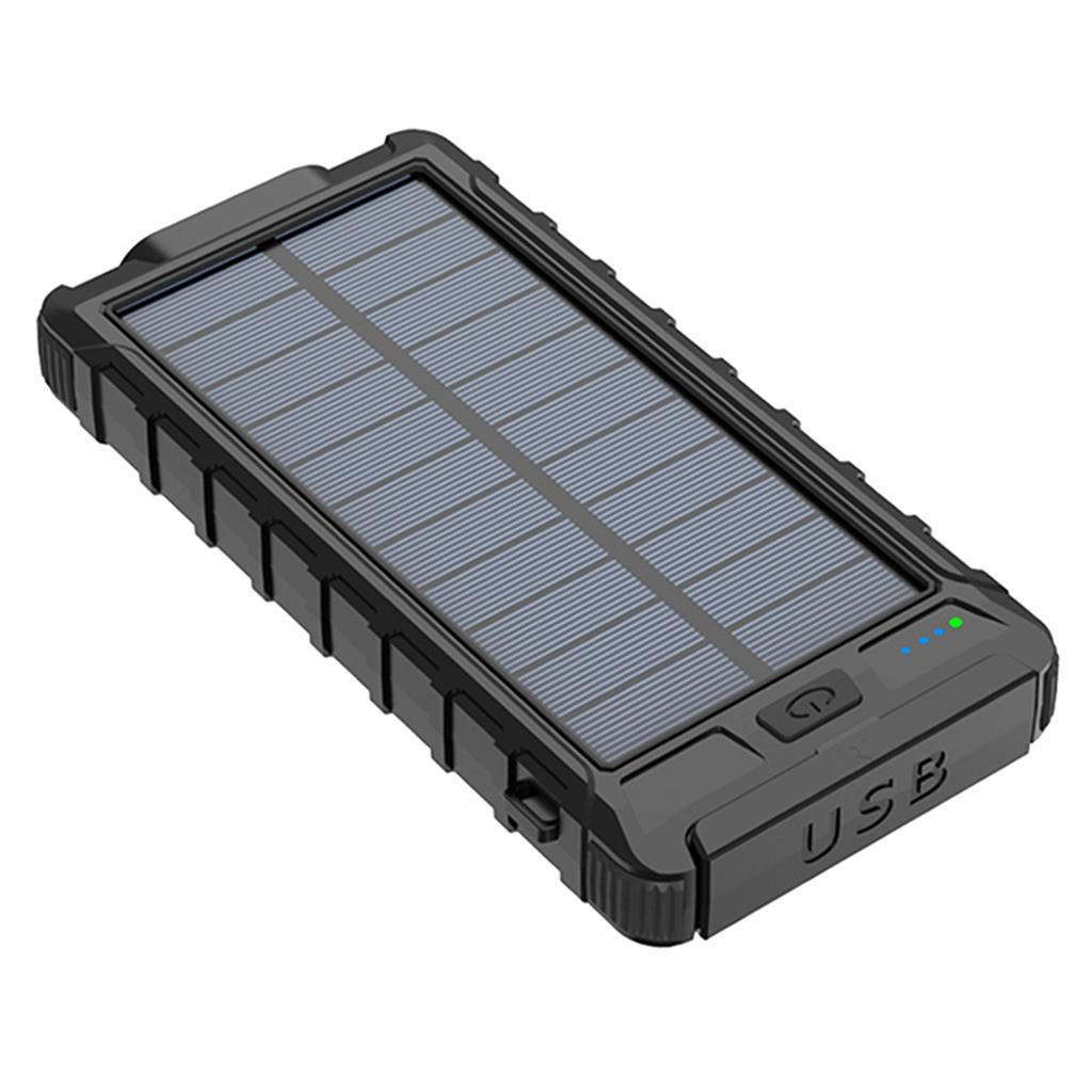 miniatura 10 - 10000mAh Solar Power Bank Cargador de batería de prueba de puerto USB 2