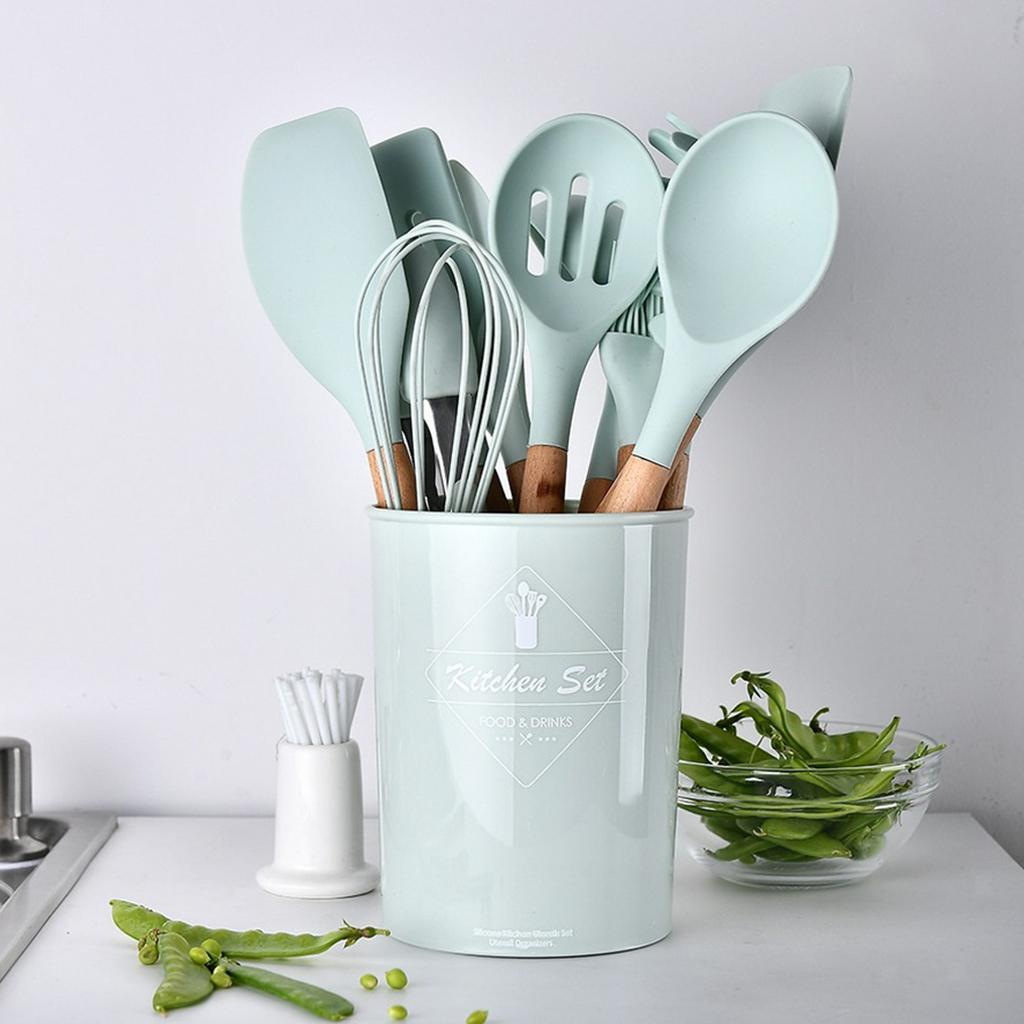 miniatura 19 - Spatola antiaderente Cucchiaio Mestolo da cucina Set di utensili da cucina per
