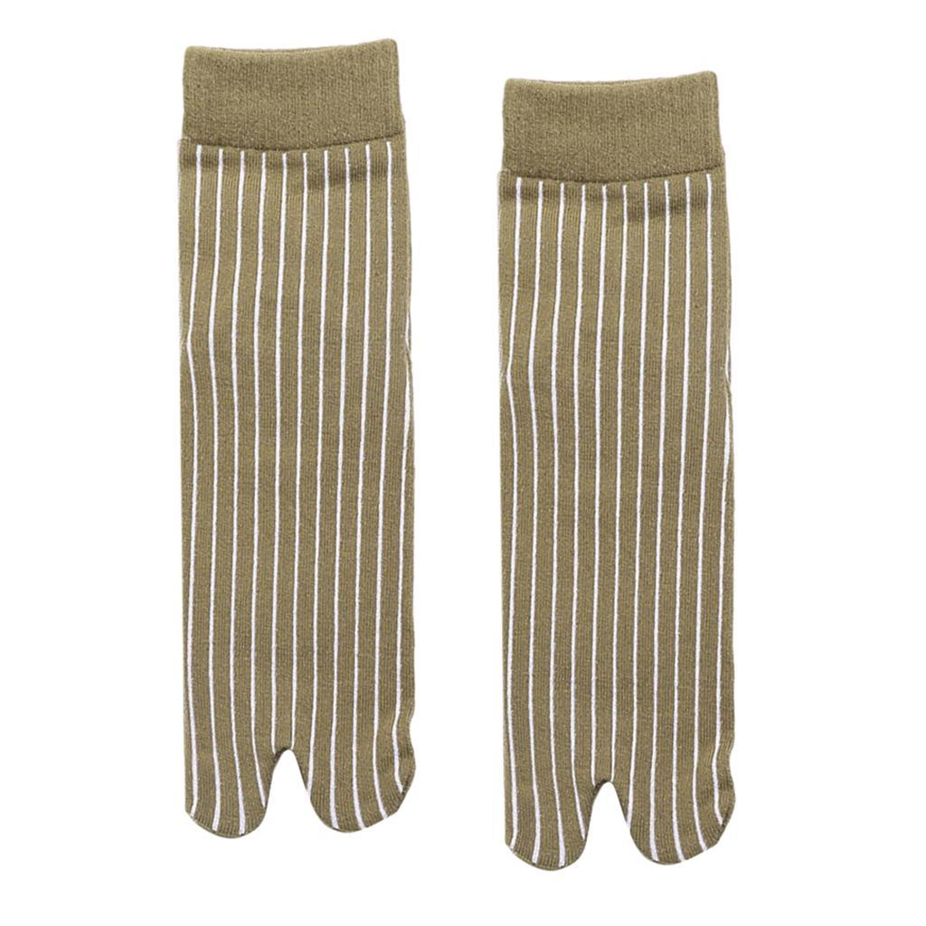 Men-100-Cotton-2-Toe-Socks-Stripes-Tabi-Socks-Hallux-Valgus-Corrector miniature 47
