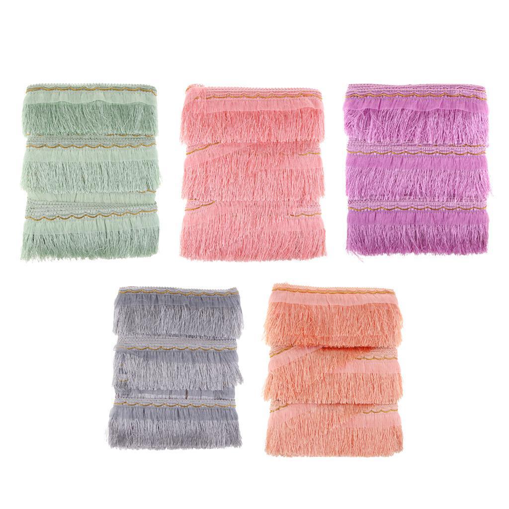 miniatura 3 - 1 rotolo di poliestere bordo nappa tappezzeria treccia trim tessuti per la casa