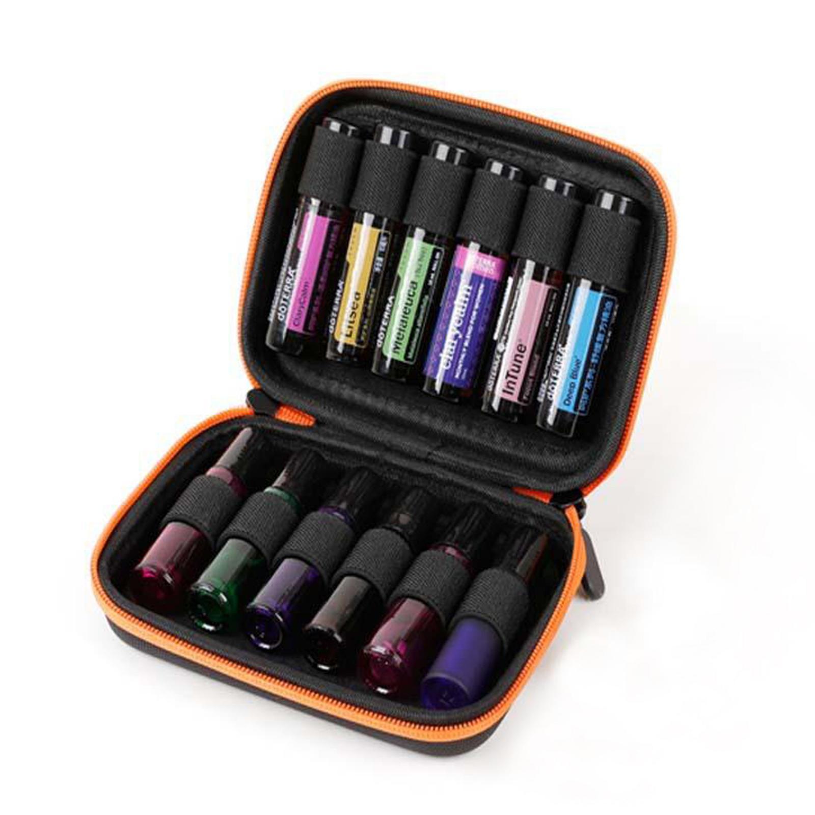 Sacchetto-di-olio-essenziale-custodia-da-viaggio-per-aromaterapia-da-10ml-per-12 miniatura 20