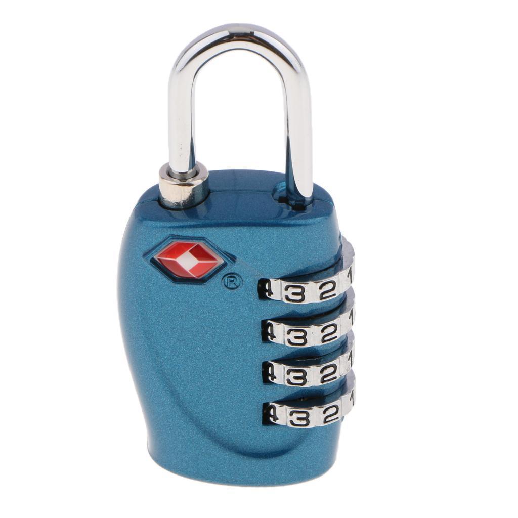 miniatura 6 - Lucchetto per valigia da viaggio con lucchetto a combinazione di sicurezza a 4