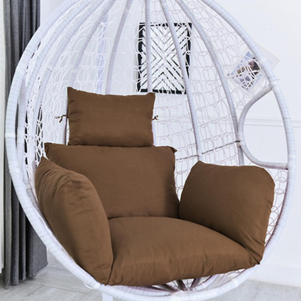 Outdoor Indoor Patio Cushion Hanging Swing Egg Chair Soft Only Cushion Cover Yard Garden Outdoor Living Home Garden