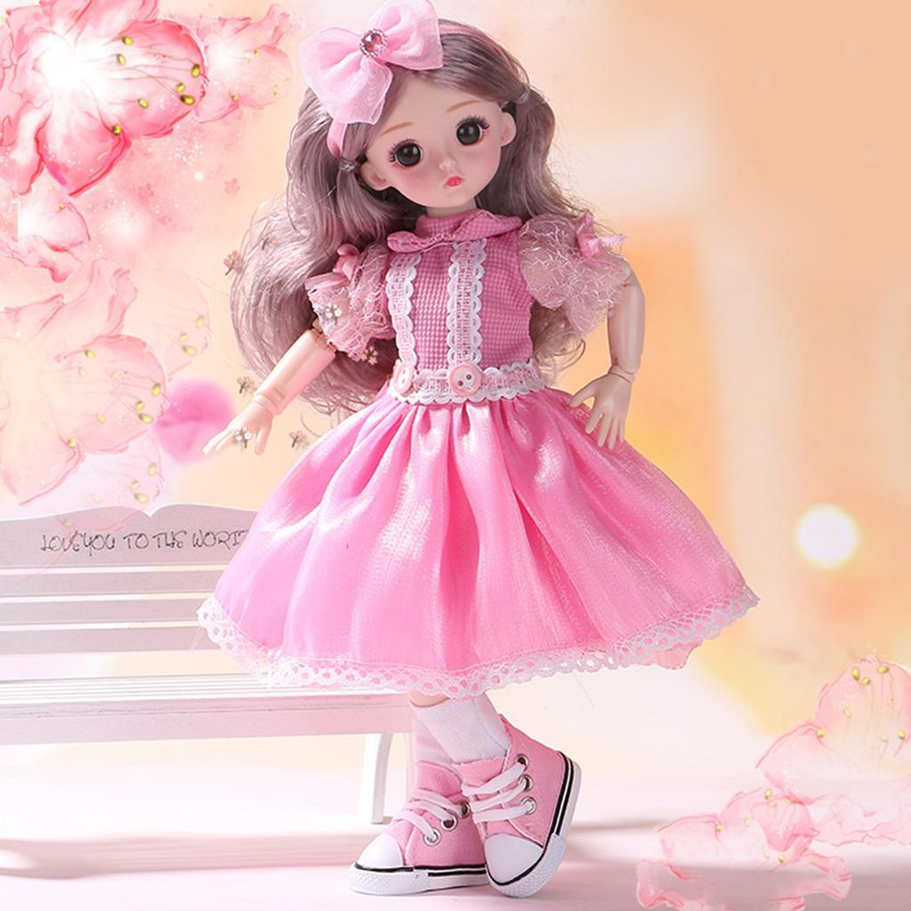 Adorable-Flexible-Joints-BJD-Doll-Body-Hair-Wig-Dress-Up-Girl-Dolls-DIY-Play thumbnail 3