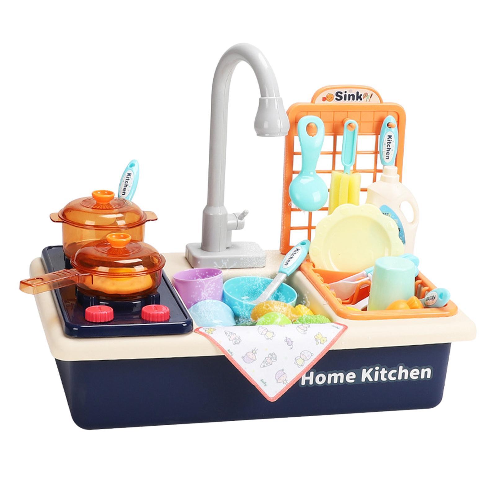 Indexbild 24 - Kinder-Kueche-Spielen-Waschbecken-Spielzeug-Automatische-Wasser-Zyklus-System