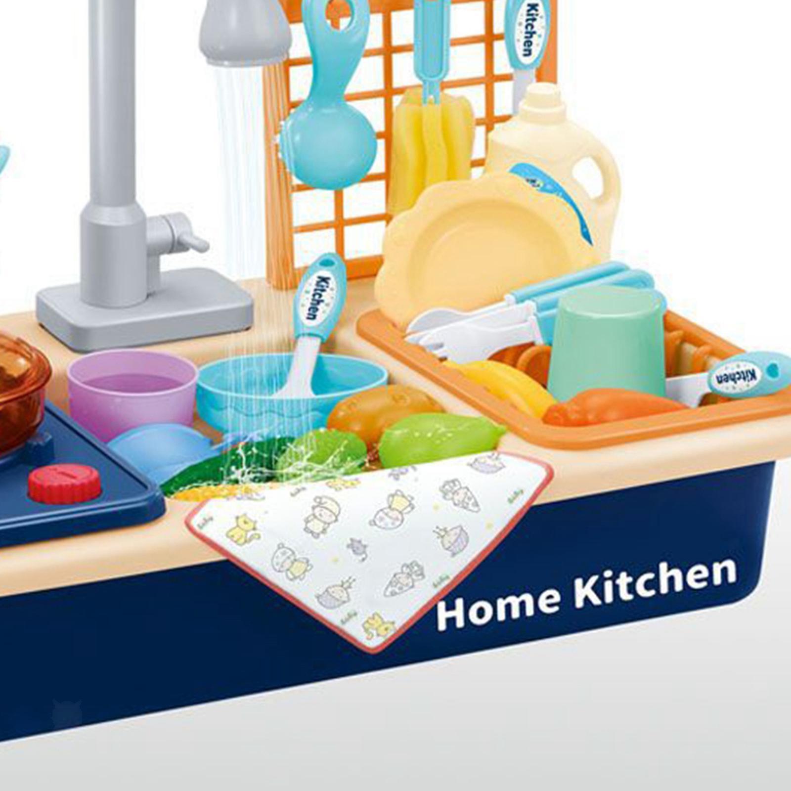 Indexbild 21 - Kinder-Kueche-Spielen-Waschbecken-Spielzeug-Automatische-Wasser-Zyklus-System