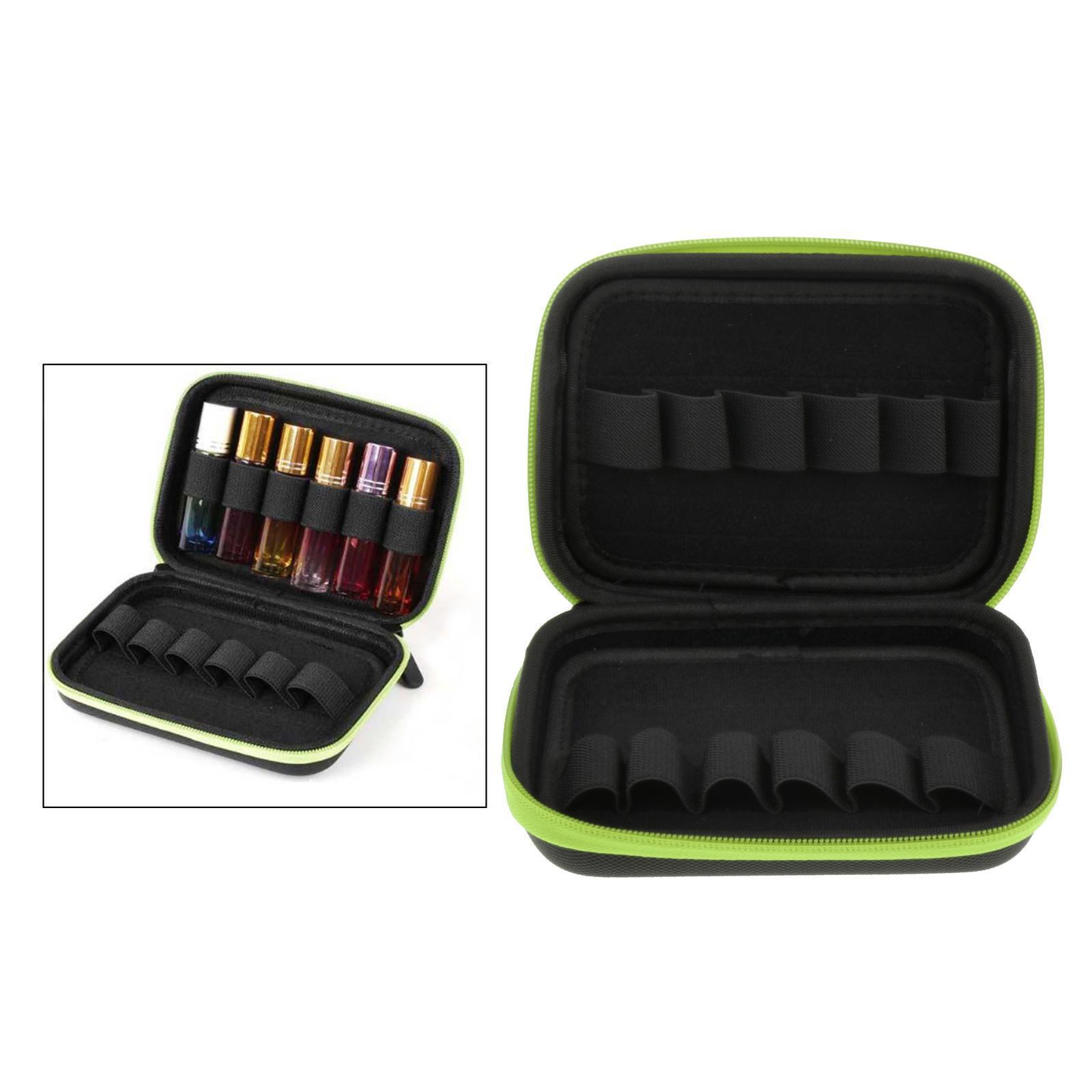 Sacchetto-di-olio-essenziale-custodia-da-viaggio-per-aromaterapia-da-10ml-per-12 miniatura 25