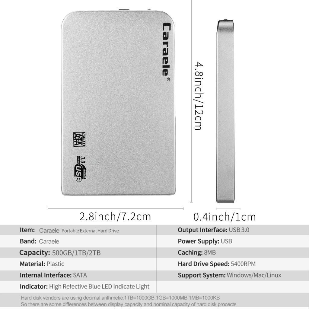 500G-1T-2-5-inch-USB-3-0-SATA-Hard-Drive-External-Enclosure-HDD-Disk-Case thumbnail 6