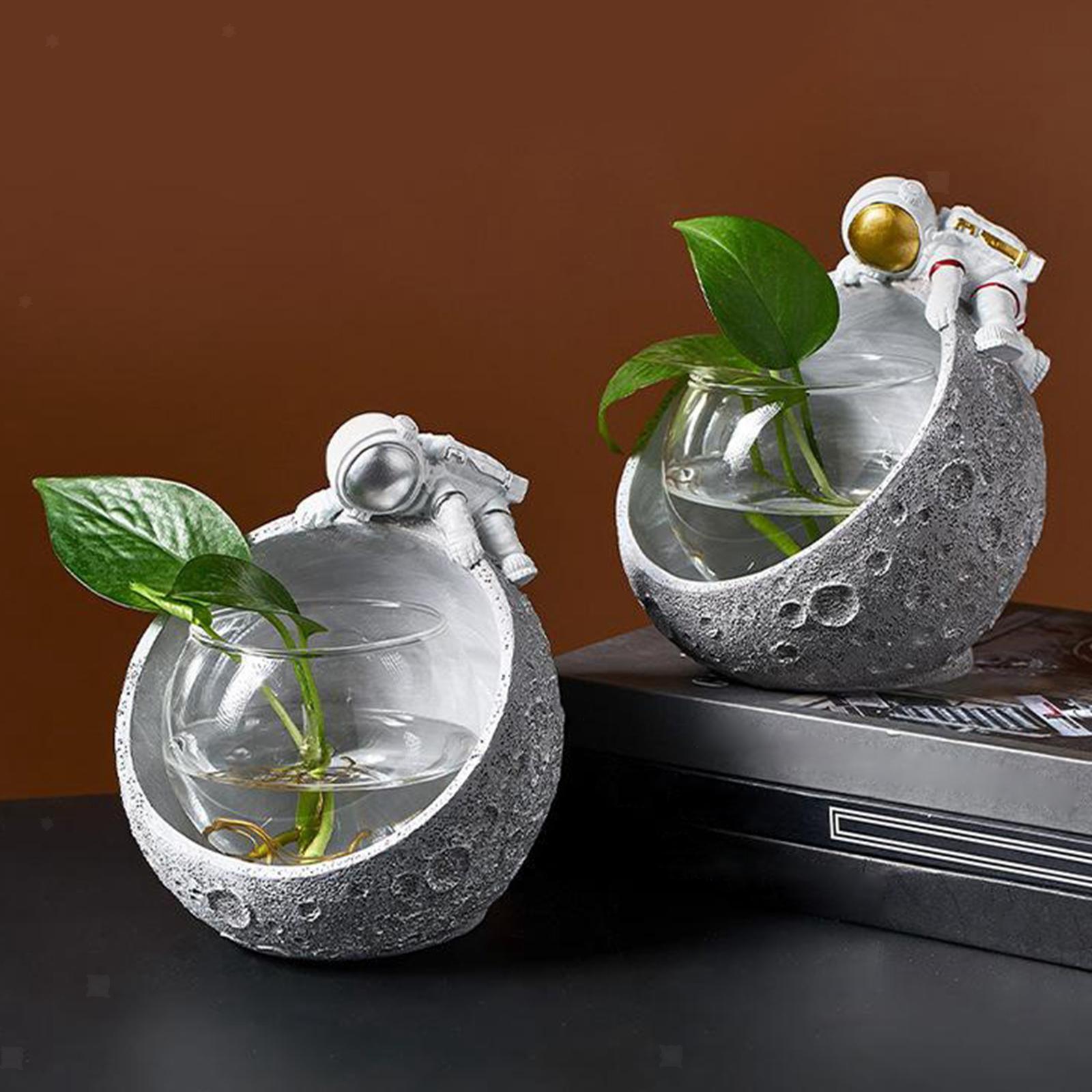 Indexbild 3 - Glas Pflanzgefäße Tisch Pflanzgefäße Runde Glasvase Blumentöpfe