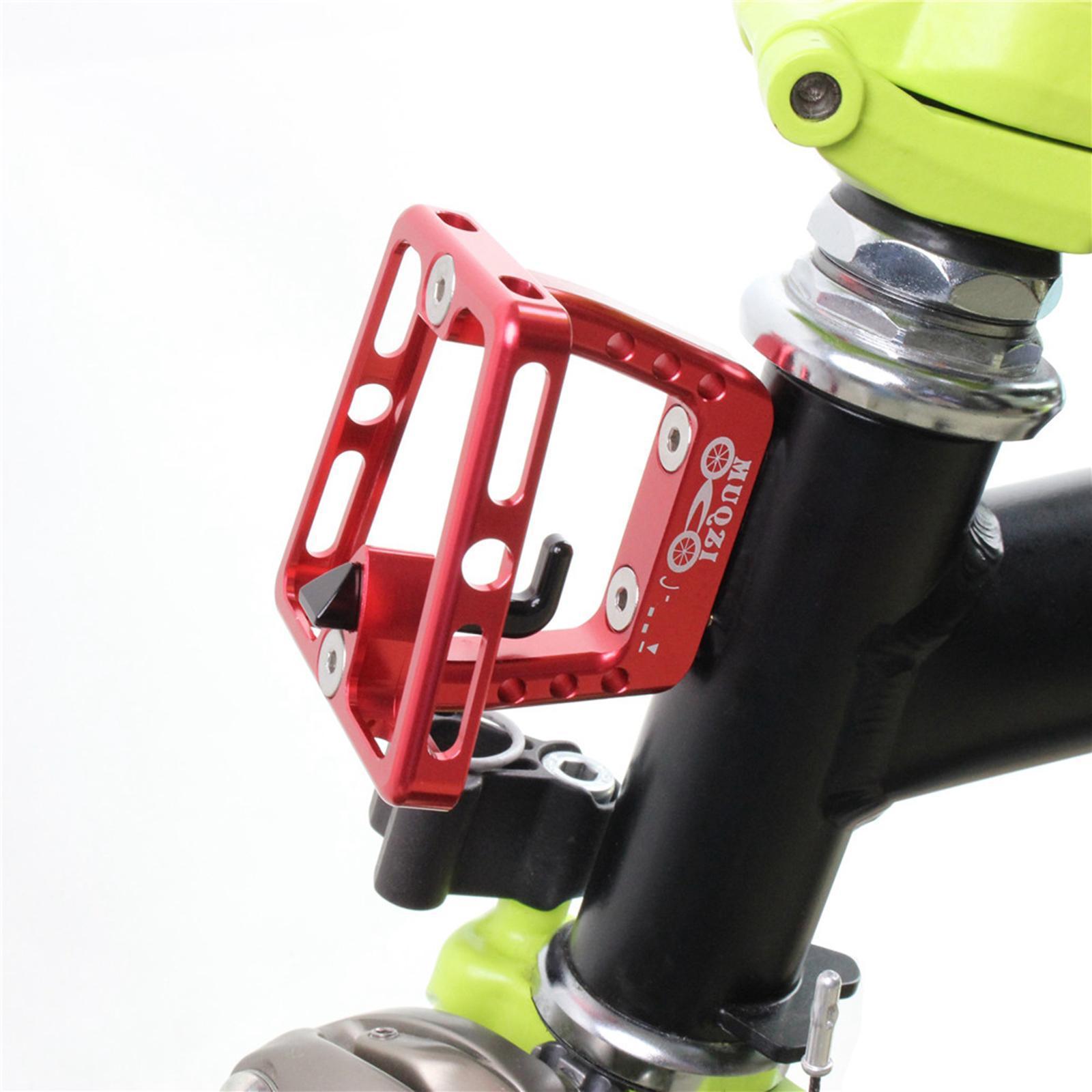 Brompton folding bike front carrier block mounting adaptor bracket cover