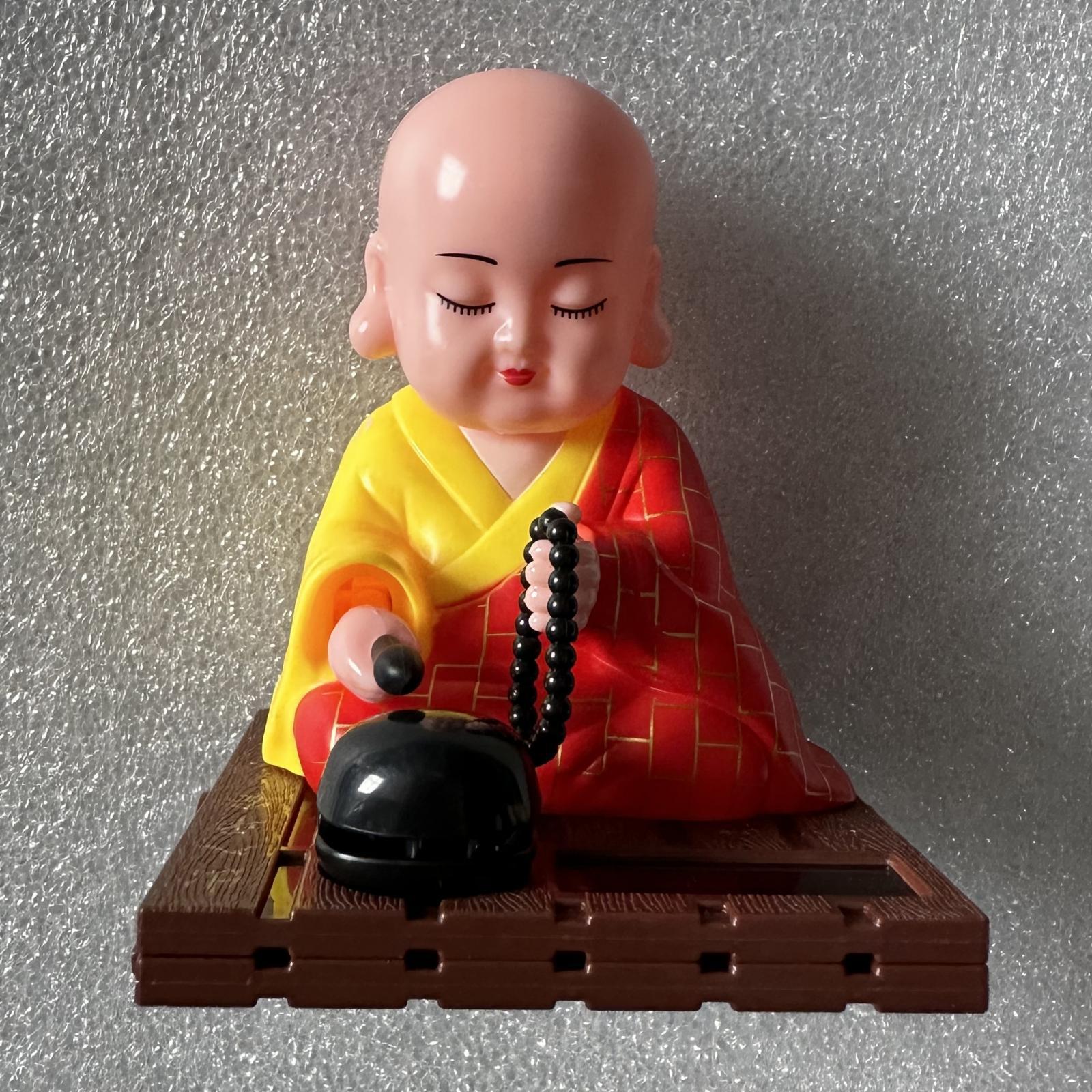 miniatura 4 - Giocattolo da ballo alimentato ad energia solare monaco buddista oscillante