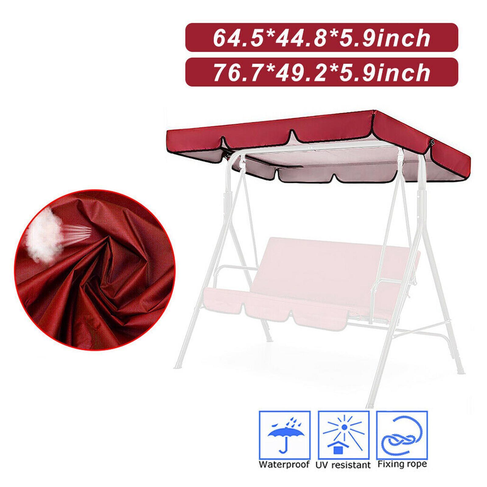 miniatura 45 - Copertura superiore della sedia a dondolo da giardino per esterni con