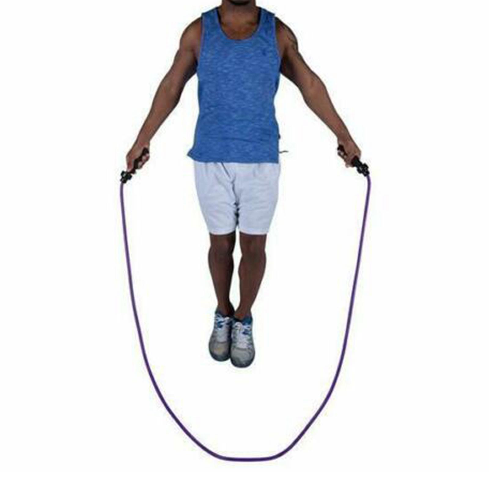 miniature 17 - Corde à sauter Réglable Corde À Sauter Enfants Garçons Filles Adulte Gym Fit