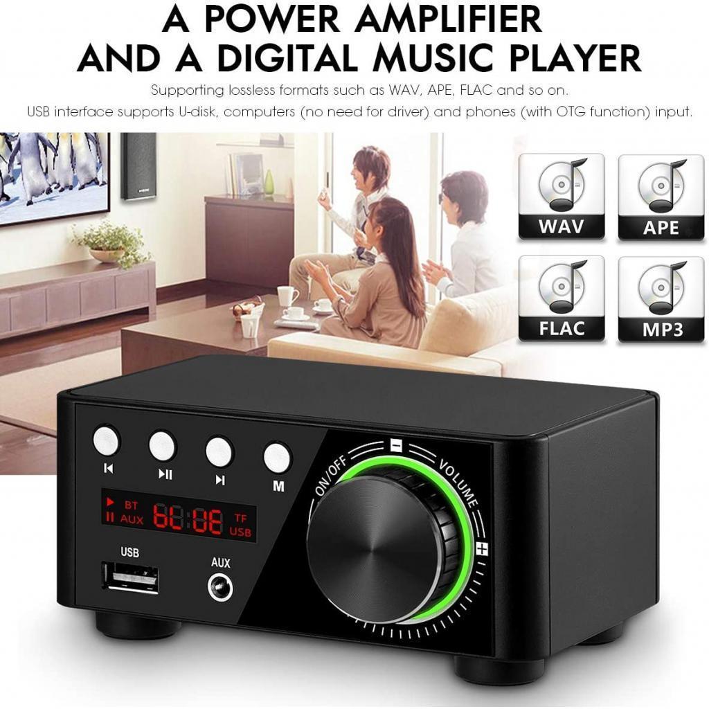 Indexbild 11 - Digitale-100W-Bluetooth-5-0-Power-Verstaerker-Hallo-fi-Stereo-2-0-Kanal-TF