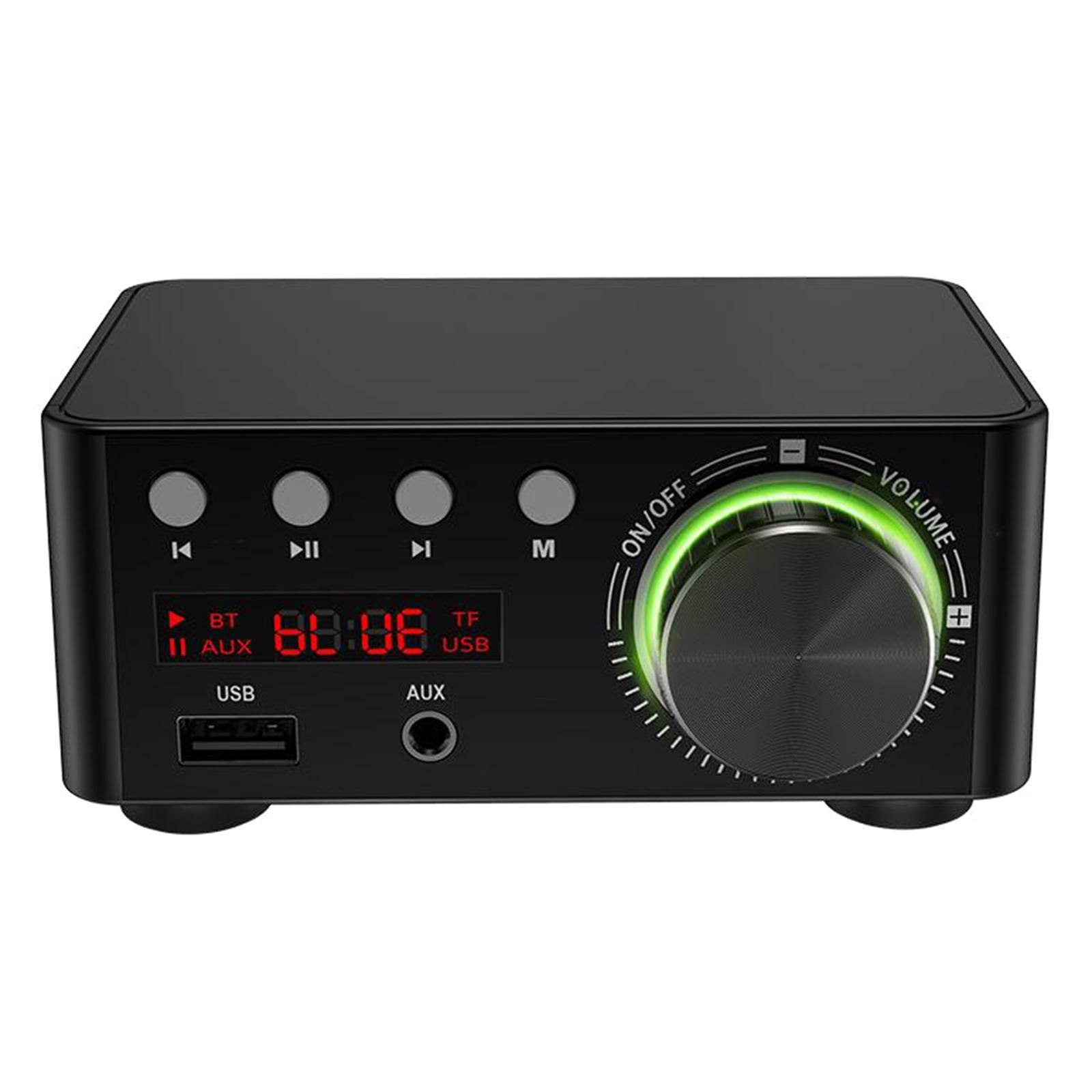Indexbild 8 - Digitale-100W-Bluetooth-5-0-Power-Verstaerker-Hallo-fi-Stereo-2-0-Kanal-TF