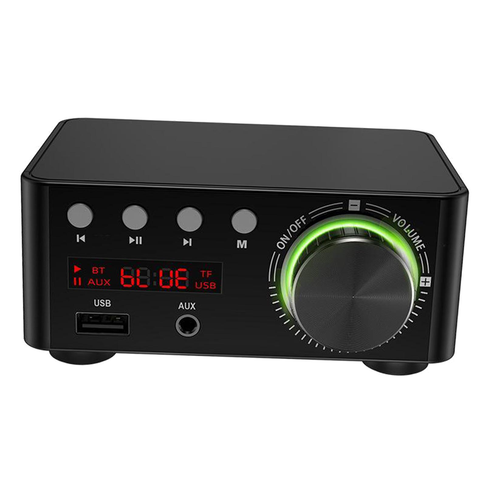 Indexbild 6 - Digitale-100W-Bluetooth-5-0-Power-Verstaerker-Hallo-fi-Stereo-2-0-Kanal-TF