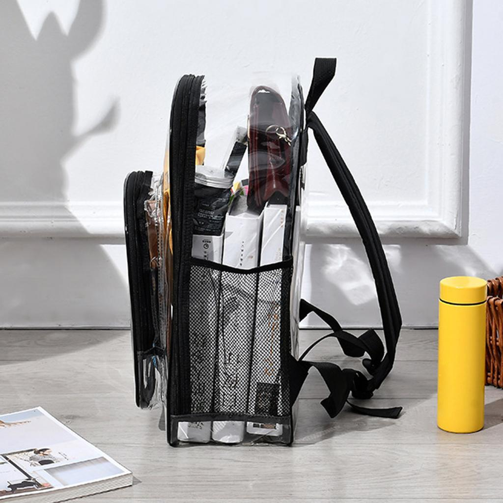 thumbnail 5 - Large Transparent PVC See Through Clear Backpack Waterproof Sport Bag Casual Bag