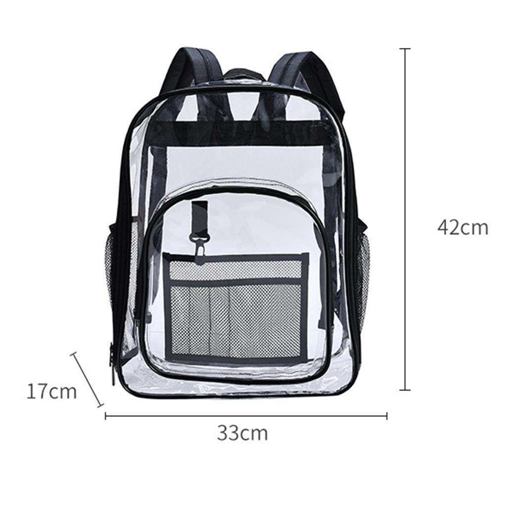 thumbnail 5 - Clear Backpack Transparent See Through School Security Heavy Duty Bookbag