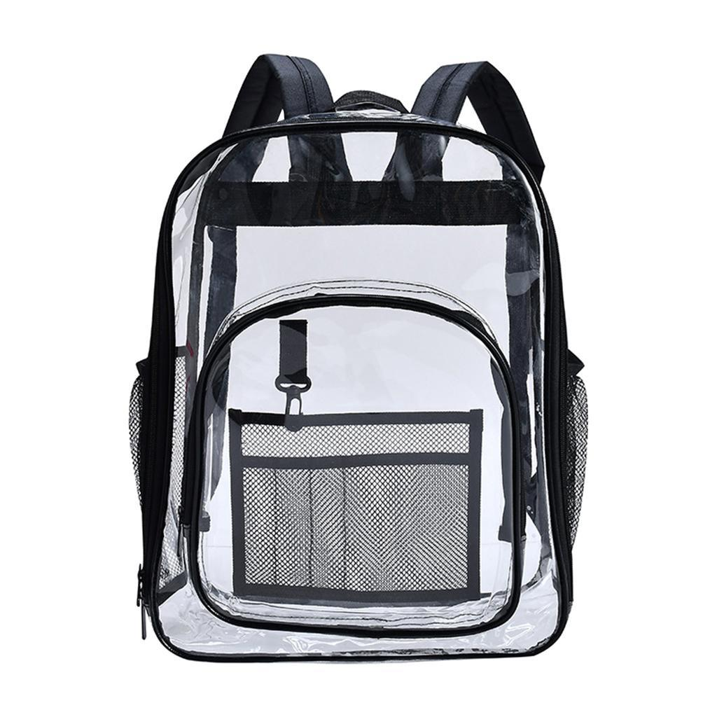 thumbnail 8 - Clear Backpack Transparent See Through School Security Heavy Duty Bookbag