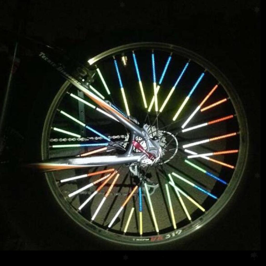 AB/_ CG/_ 4Pcs Bike Wheel Spoke Reflective Warning Strip Reflectors Bicycle Access