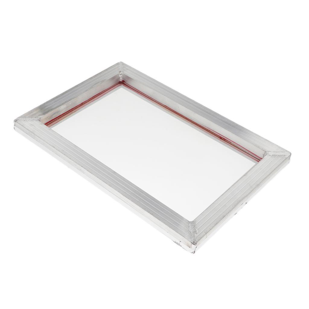 1-lot-Screen-Printing-Frame-Aluminum-Silk-Print-Polyester-Mesh-43-Mesh thumbnail 4