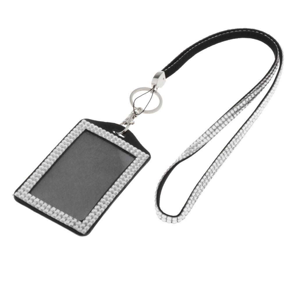 Porte-badge d'identification avec lanière Carte de visite verticale ID