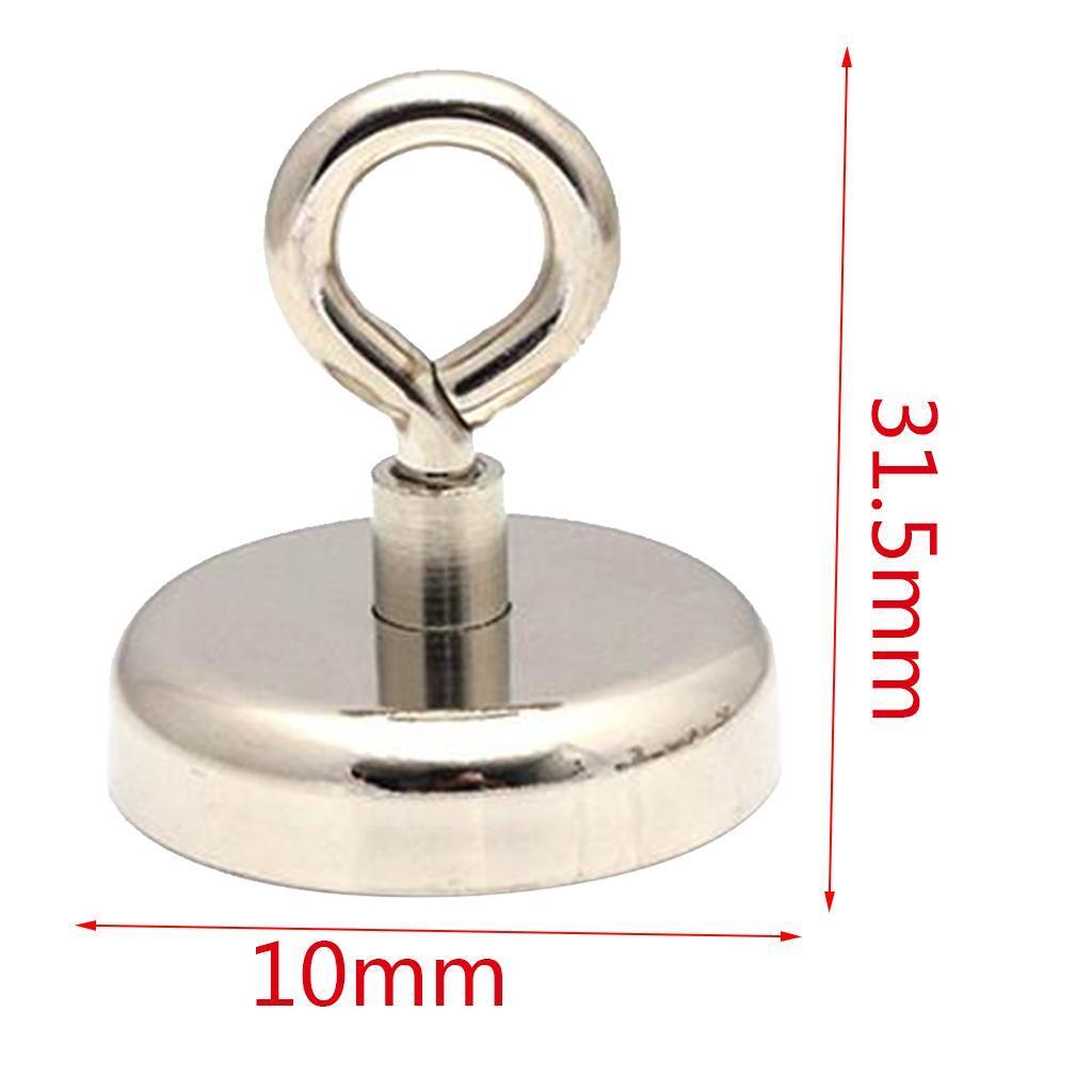 Magneti-A-Forza-Di-Trazione-Gancio-Frigorifero-Magneti-Rotondi-Ganci-A-Golfare miniatura 4
