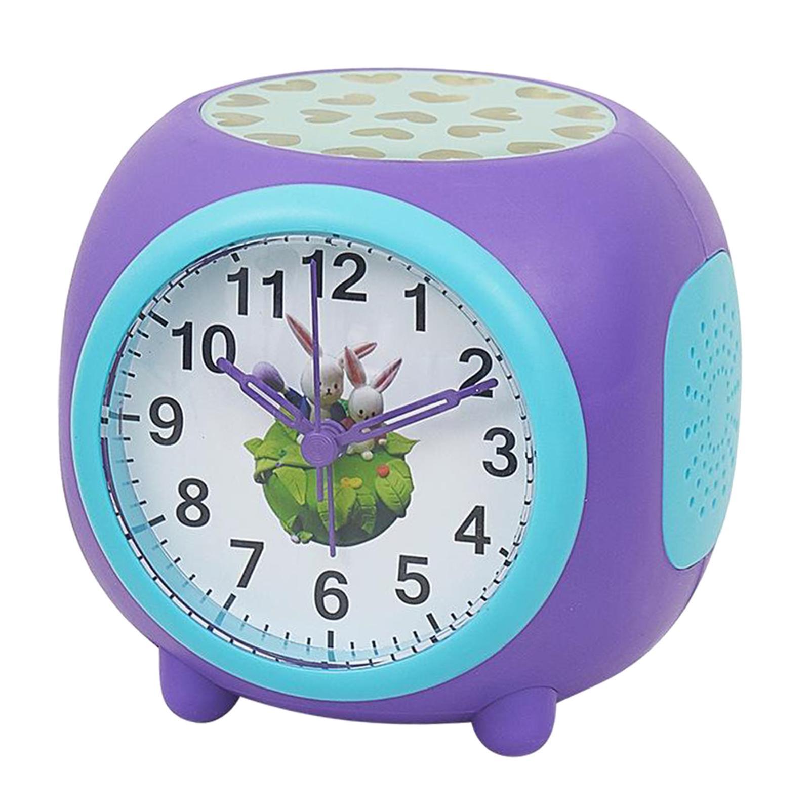 Controllo-vocale-Star-Projection-Lamp-Sveglia-Snooze-Clock-Orologio-da-camera-da miniatura 3