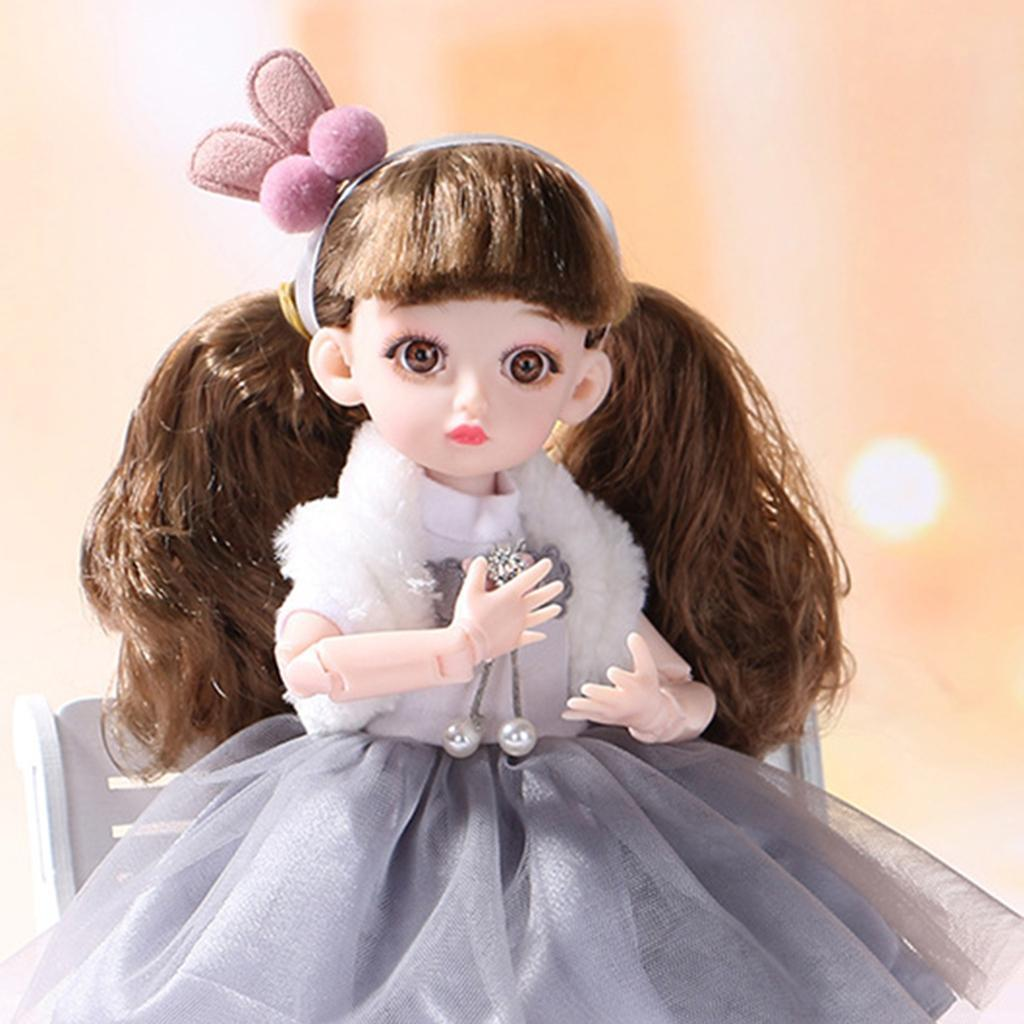 Adorable-Flexible-Joints-BJD-Doll-Body-Hair-Wig-Dress-Up-Girl-Dolls-DIY-Play thumbnail 9