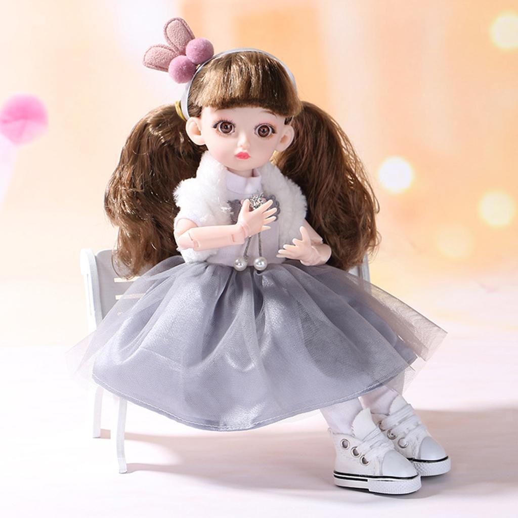 Adorable-Flexible-Joints-BJD-Doll-Body-Hair-Wig-Dress-Up-Girl-Dolls-DIY-Play thumbnail 10