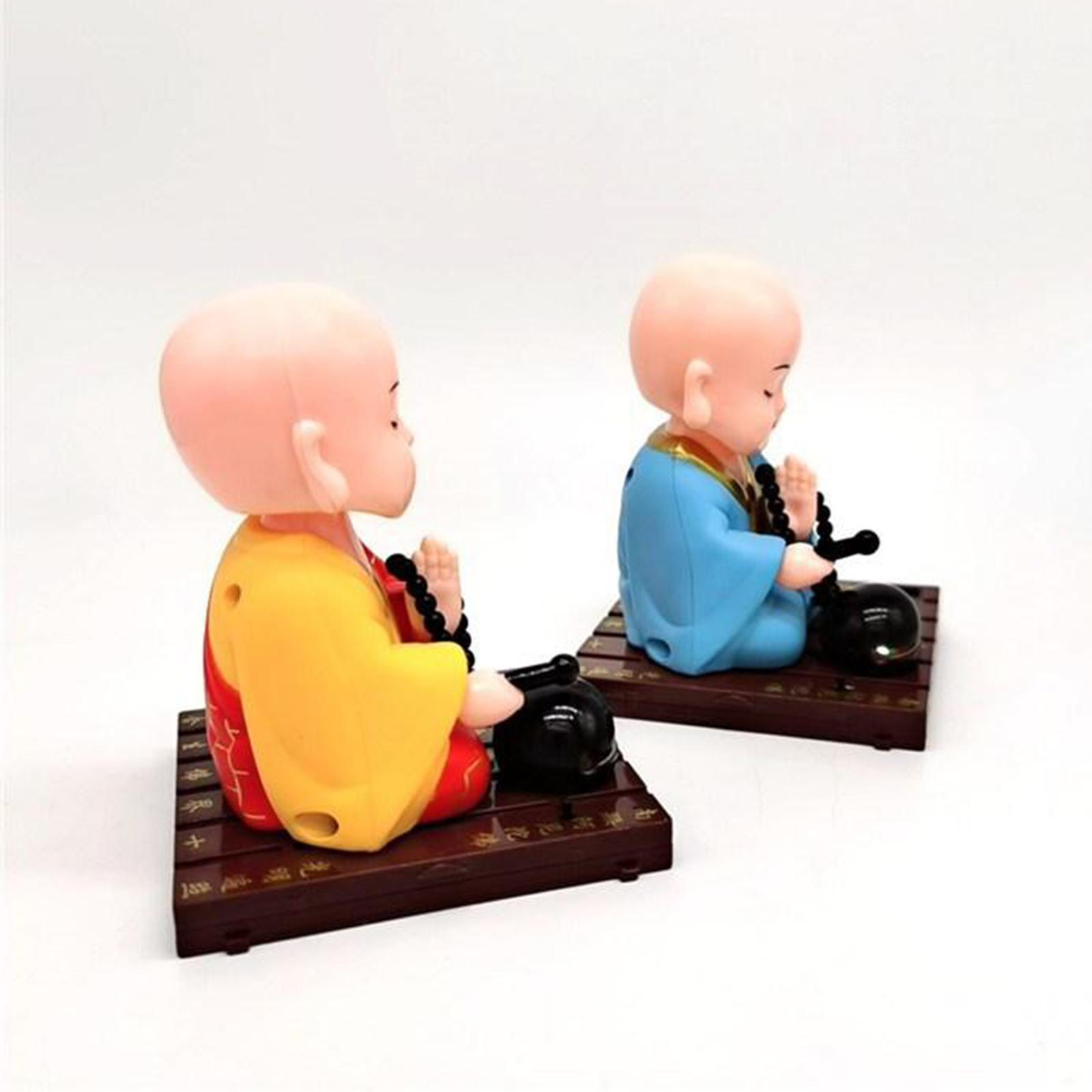 miniatura 7 - Giocattolo da ballo alimentato ad energia solare monaco buddista oscillante