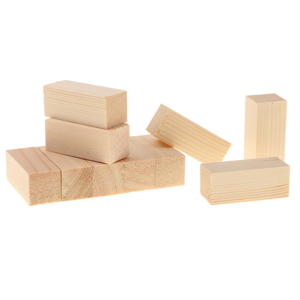 10-5x-Natural-Wood-Stick-Wooden-Block-for-Woodworking-Model-Making-Hobbies-Craft thumbnail 4
