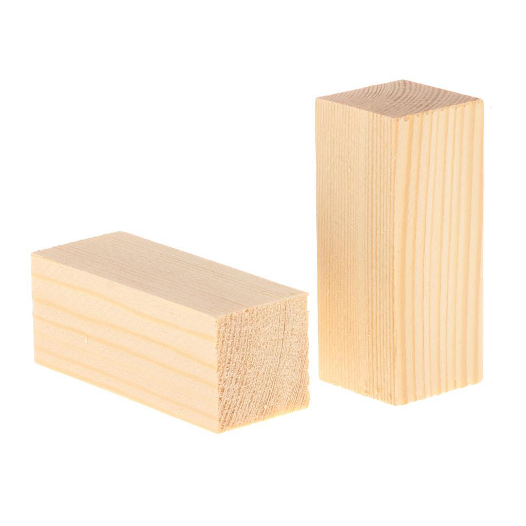 10-5x-Natural-Wood-Stick-Wooden-Block-for-Woodworking-Model-Making-Hobbies-Craft thumbnail 3