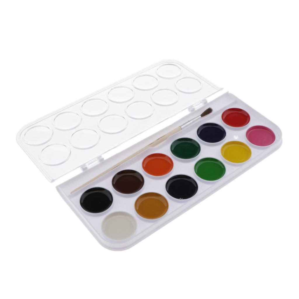 12-16-28-36-Colors-Solid-Watercolor-Paints-With-brush-For-Art-Crafts-Paint thumbnail 6