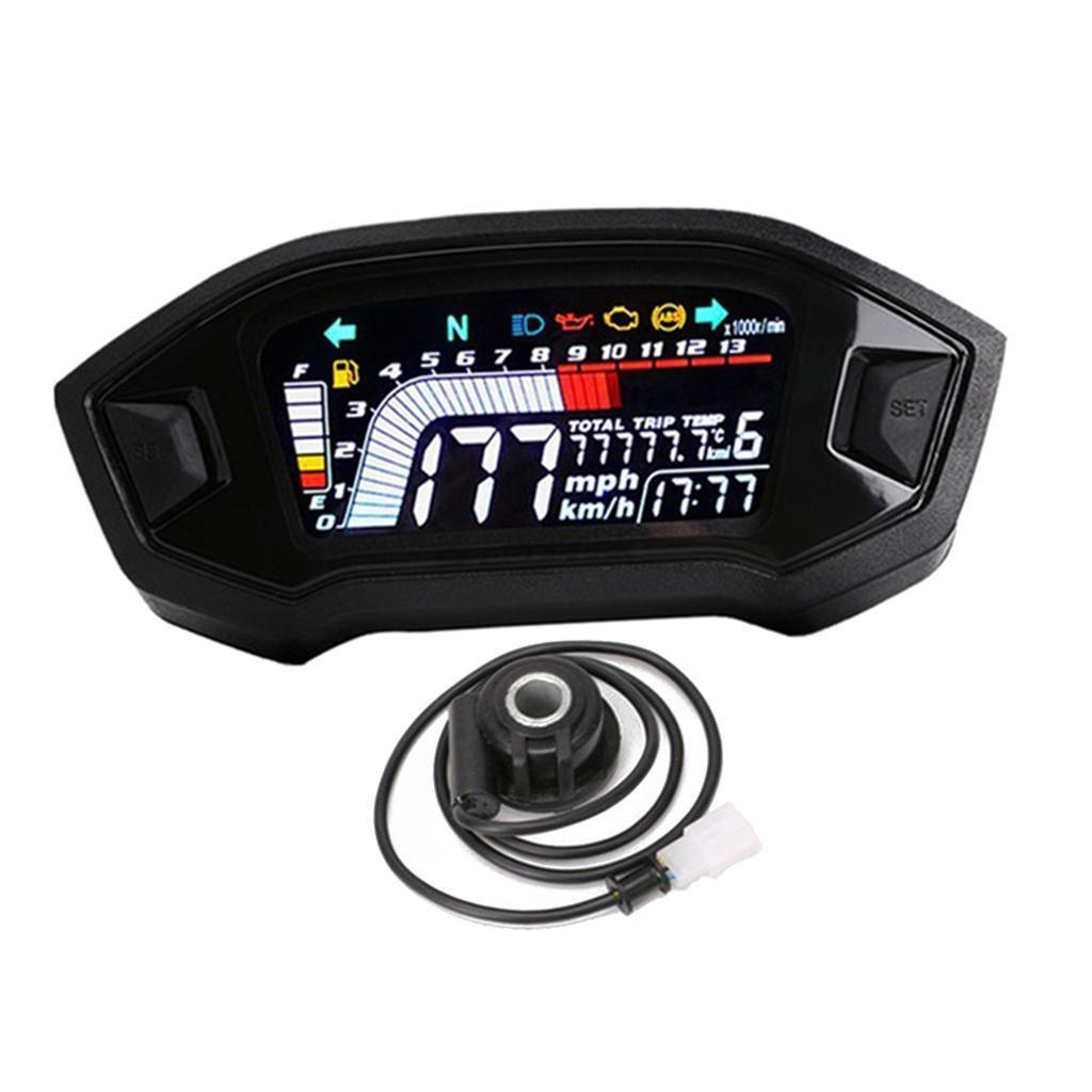 Speedometer Odometer Gear Digital Display Lcd Led Kmh Mph