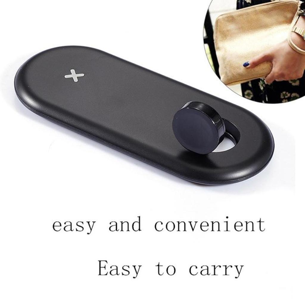 miniatura 8 - Caricabatterie Wireless Qi Per Smartphone D200 Per Apple Watch Series 1/2/3/4