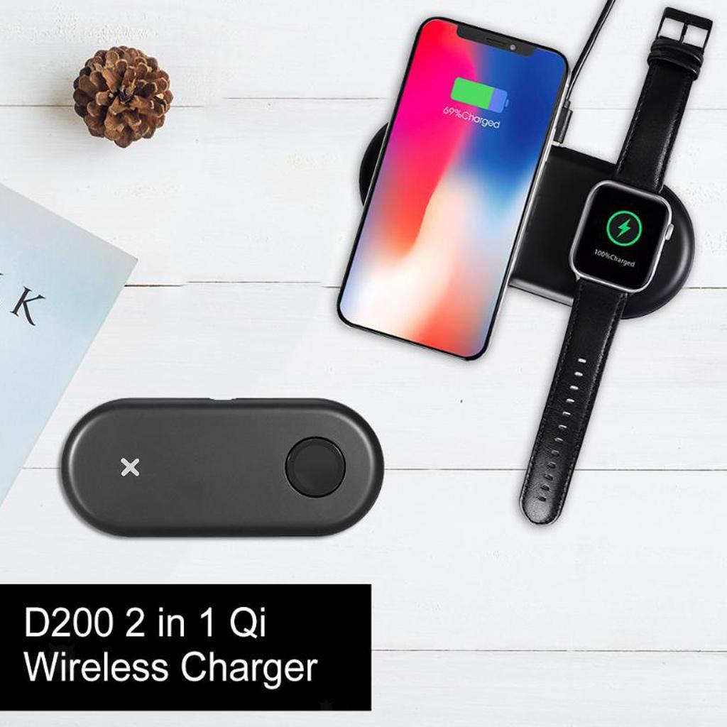 miniatura 9 - Caricabatterie Wireless Qi Per Smartphone D200 Per Apple Watch Series 1/2/3/4