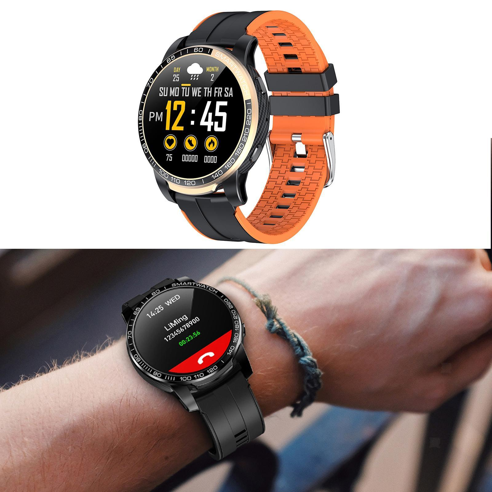 Hommes-Smart-Watch-Bluetooth-Call-Fitness-Tracker-frequence-cardiaque-sommeil miniature 16