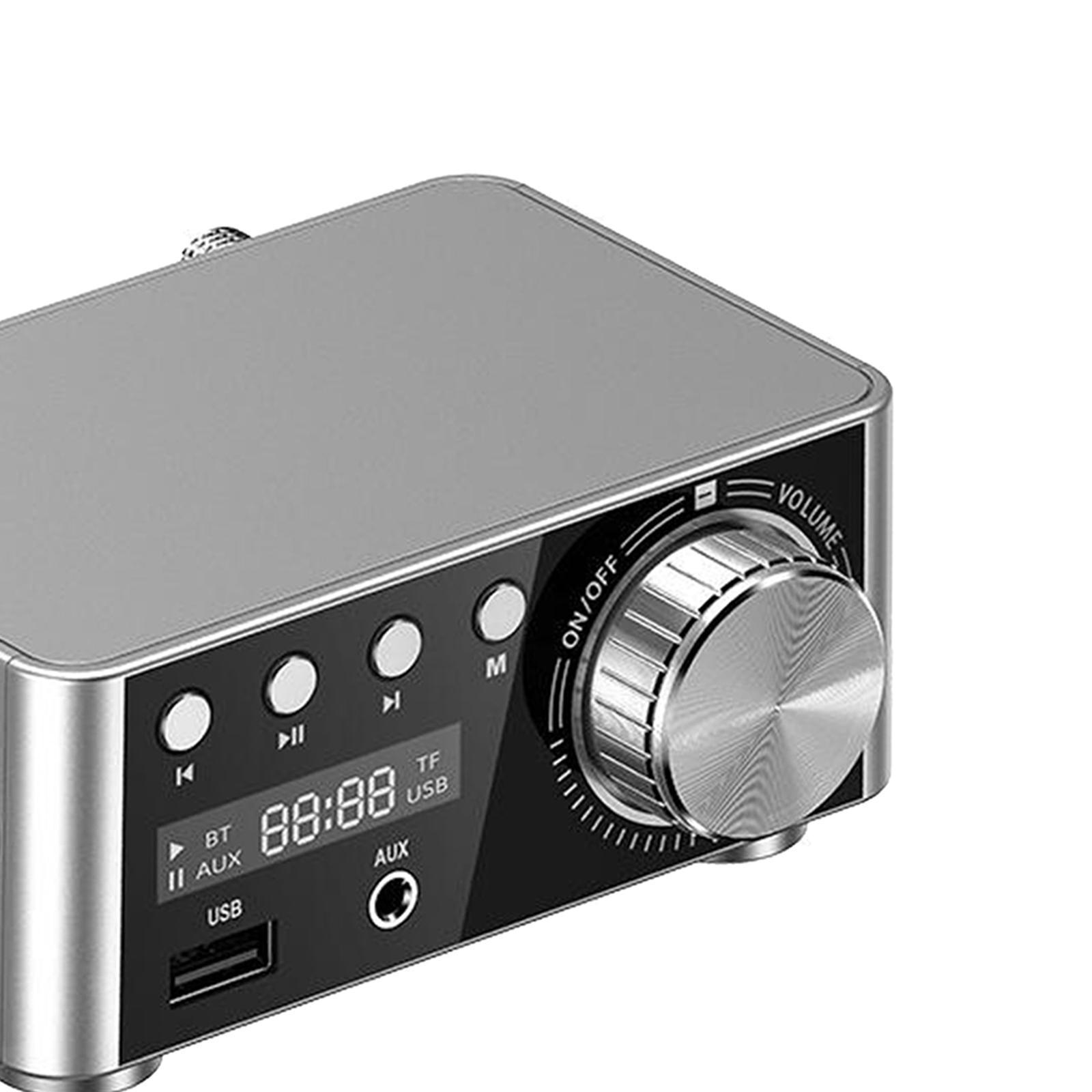Indexbild 19 - Digitale-100W-Bluetooth-5-0-Power-Verstaerker-Hallo-fi-Stereo-2-0-Kanal-TF