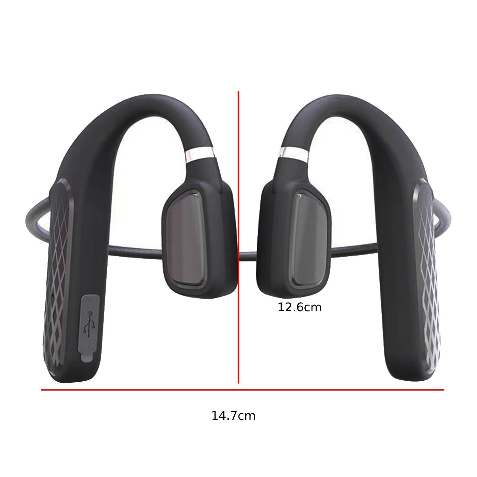 miniature 4 - Sans fil Bluetooth Conduction Osseuse Casque Sport Écouteurs Sweatproof