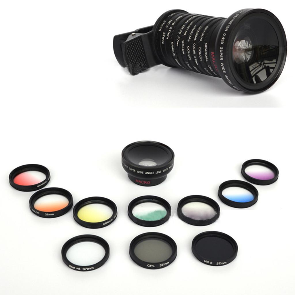 Indexbild 7 - 12 in 1 37 mm Filterhandelkamera Objektiv Set CPL Filter ND8 STAR Schieß