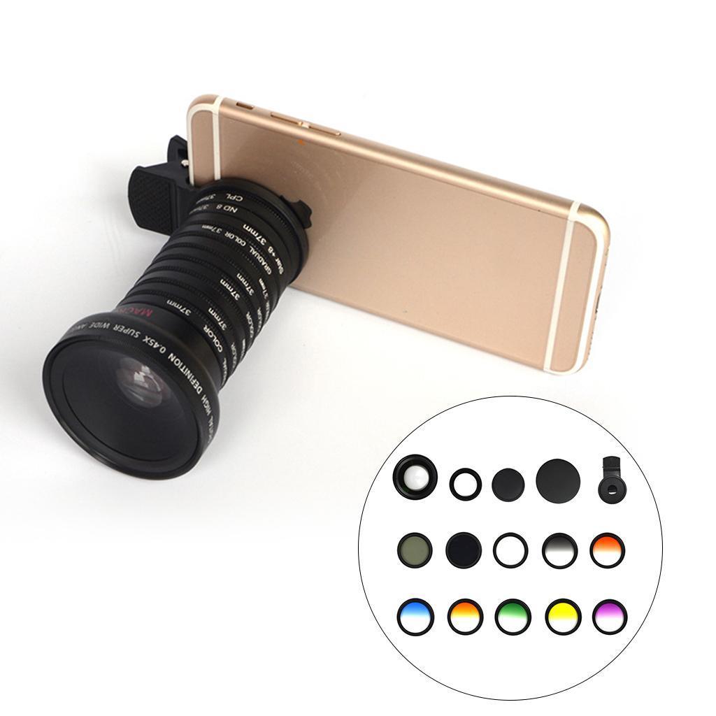 Indexbild 2 - 12 in 1 37 mm Filterhandelkamera Objektiv Set CPL Filter ND8 STAR Schieß