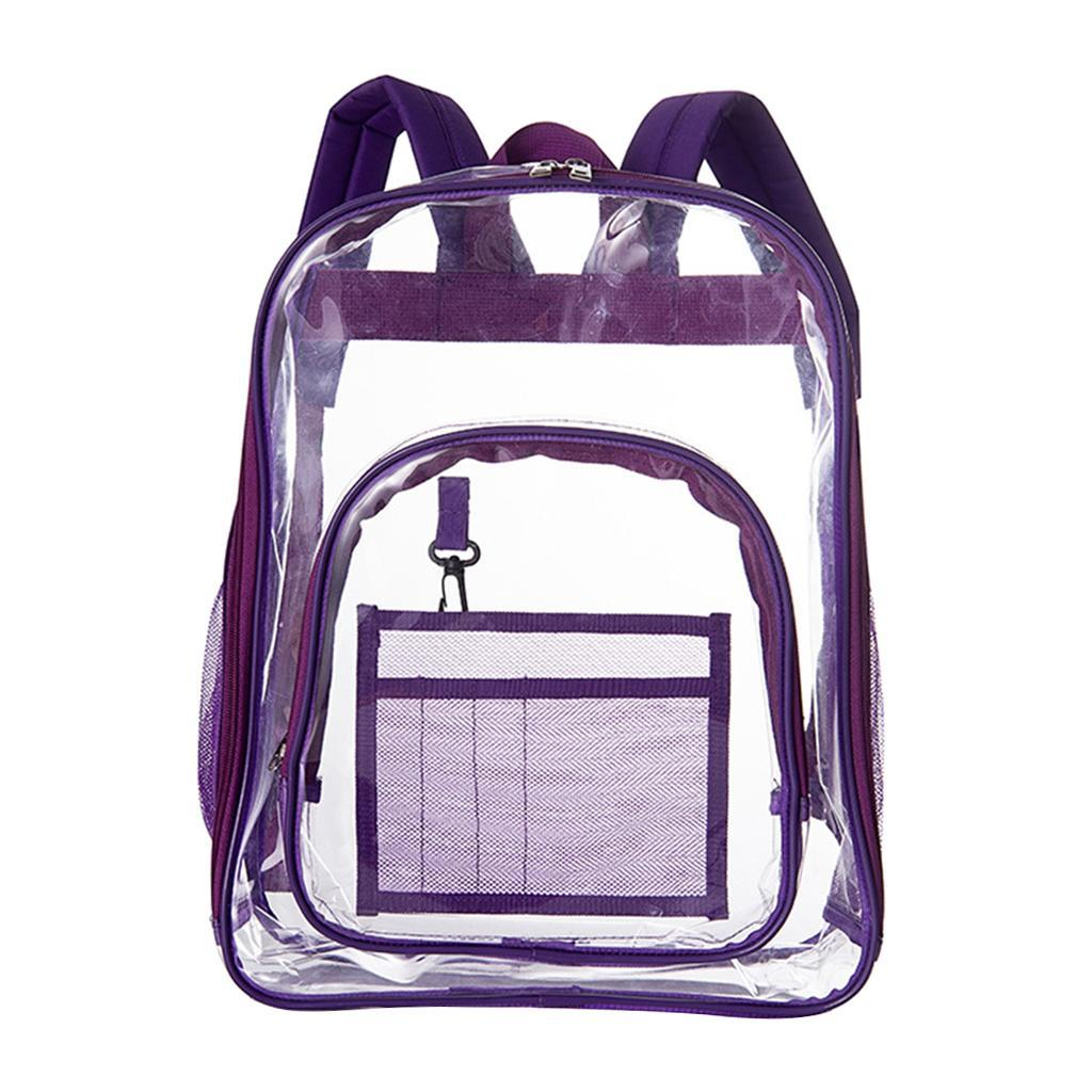 thumbnail 10 - Clear Backpack Transparent See Through School Security Heavy Duty Bookbag