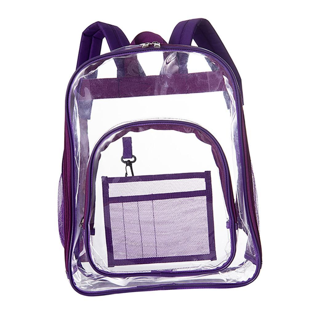 thumbnail 11 - Clear Backpack Transparent See Through School Security Heavy Duty Bookbag