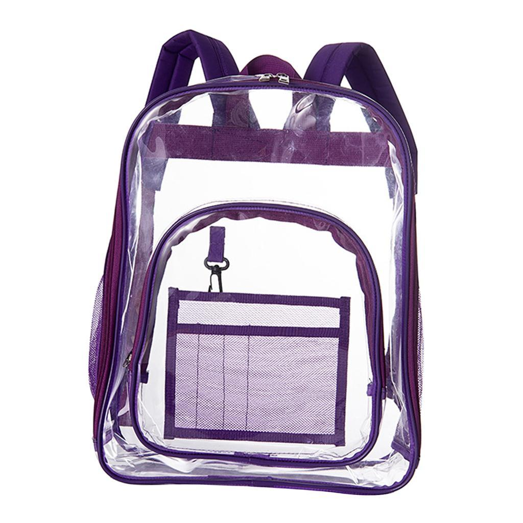thumbnail 9 - Large Transparent PVC See Through Clear Backpack Waterproof Sport Bag Casual Bag