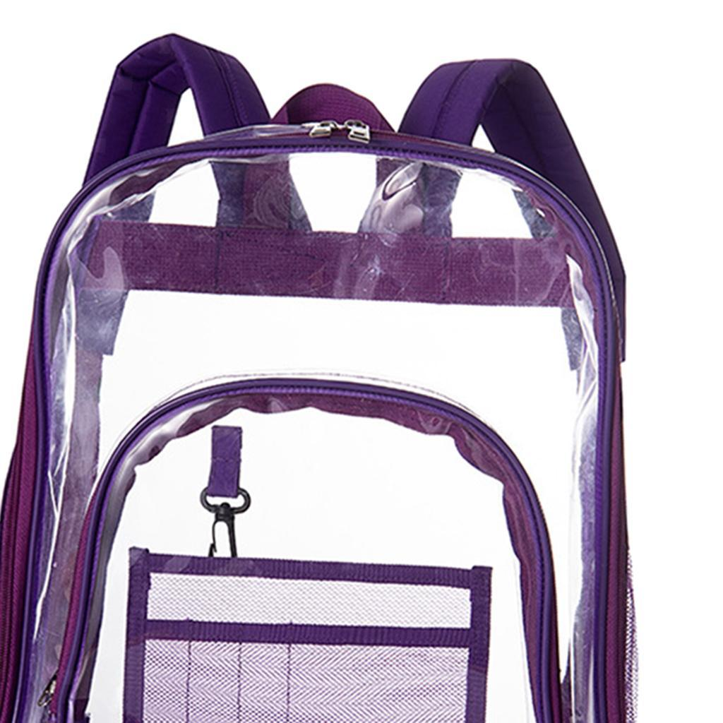 thumbnail 12 - Clear Backpack Transparent See Through School Security Heavy Duty Bookbag